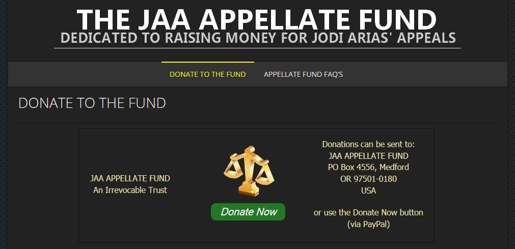 1 - Justice 4 Jodi - The JAA Appellate Fund Website