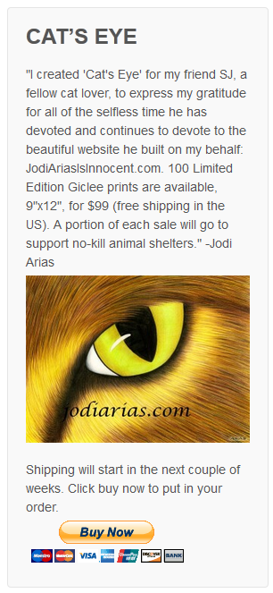 """Cat's Eye"" - Jodi Arias Limited Edition Giclee Print"