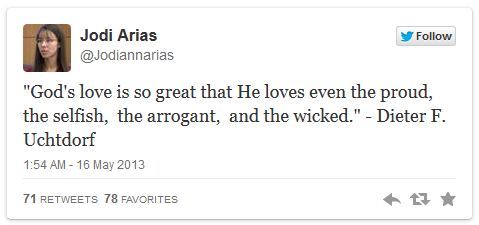 Jodi Arias 5-15 Twitter message
