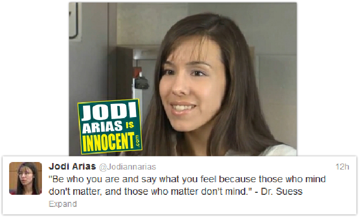 Jodi Arias twitter message - 7-4