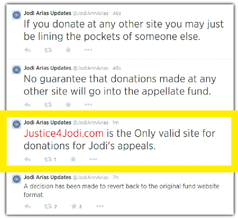 Jodi Arias twitter updates 7-29