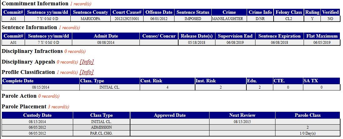 Joshua's sentencing