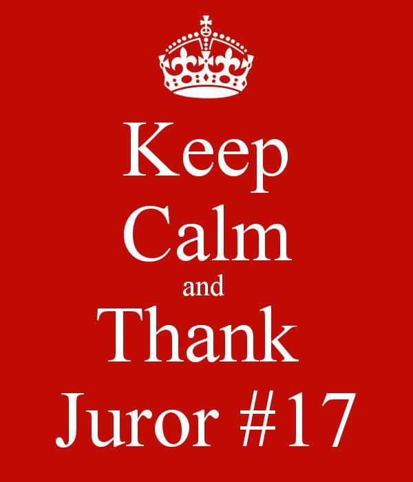 Jodi Arias - Keep Calm & Thank Juror #17