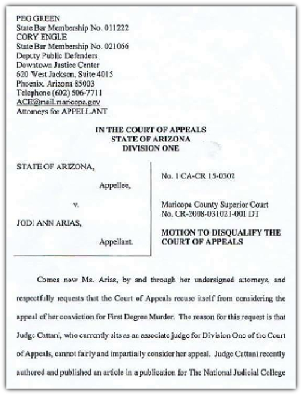 Motion To Disqualify The Court Of Appeals