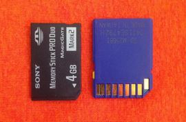 Sony duo pro & blue SD card