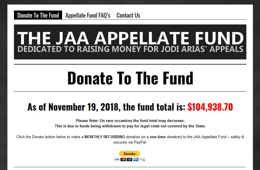 The JAA Appellate Fund website
